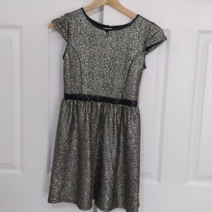 Kid's Xhilaration Silver and Black Sparkle Dress